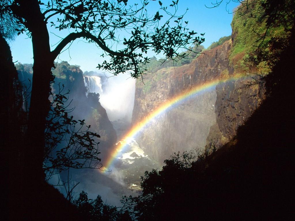 Nature   Victoria Falls Rainbow Zimbabwe   Desktop 1024x768
