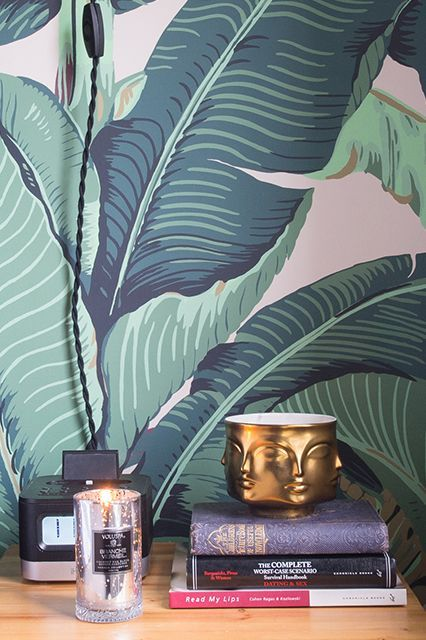 Martinique Banana Leaf Dorothy Drapers Brazilliance Wallpaper 426x640