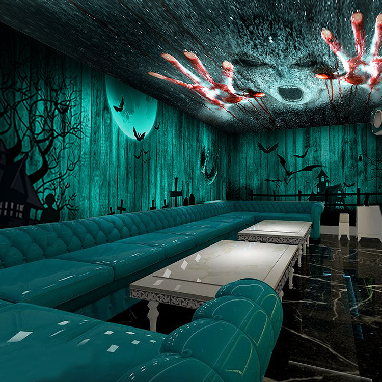 3 d chamber of escape large murals horror theme room KTV 750x750