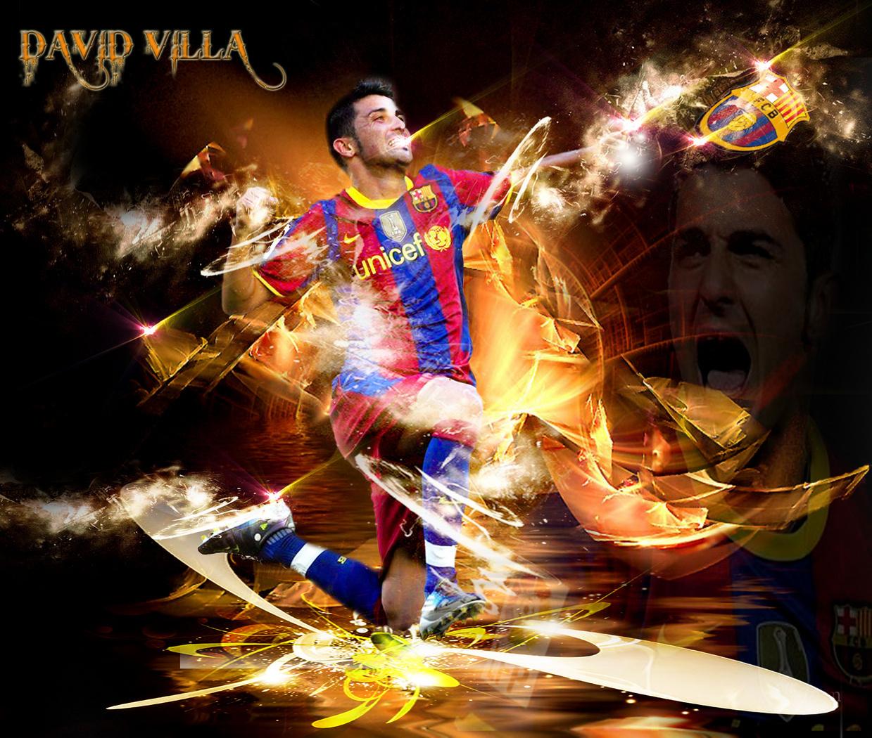 David Villa FC Barcelona Wallpaper   David Villa Fan Art 22594995 1239x1050