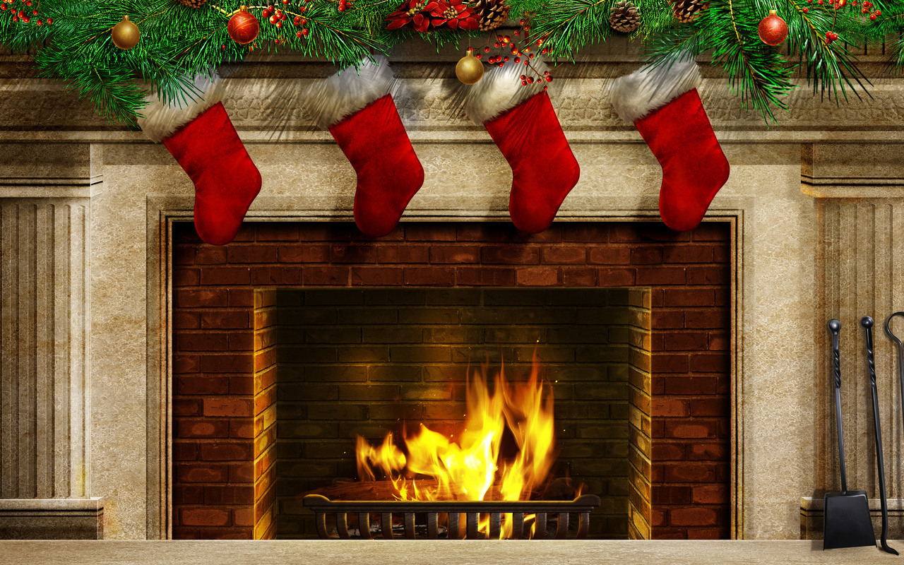 Christmas Fireplace Background Clipart Images amp Pictures 1280x800