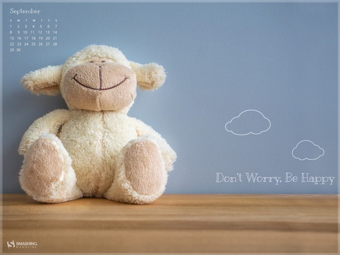 Don t Worry Be Happy September 2013 Calendar Wallpaper 700x525