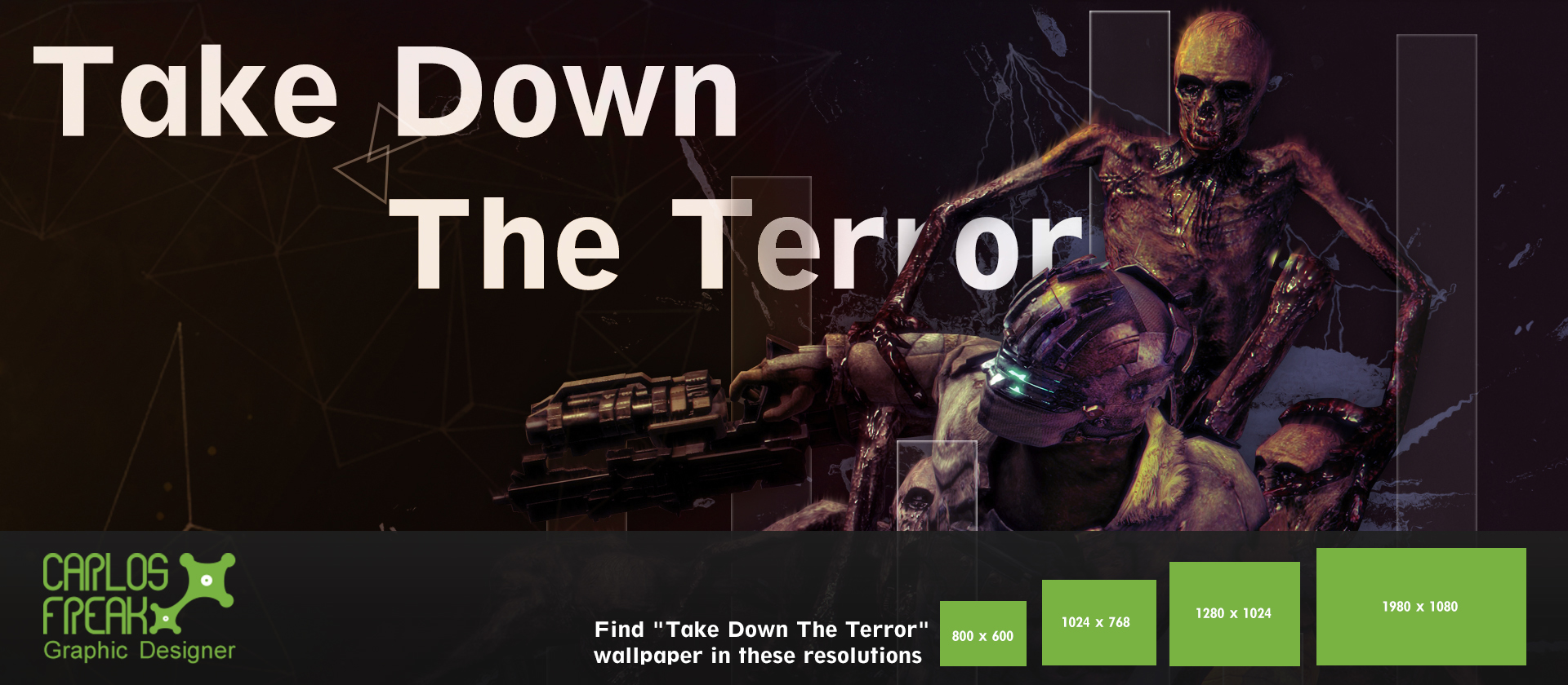 take down the terror wallpaper by stand87 customization wallpaper 1920x840