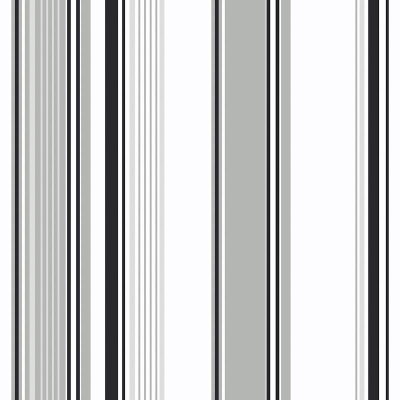 Home DIY Wallpaper Amelia Black and Silver Stripe Wallpaper 800x800