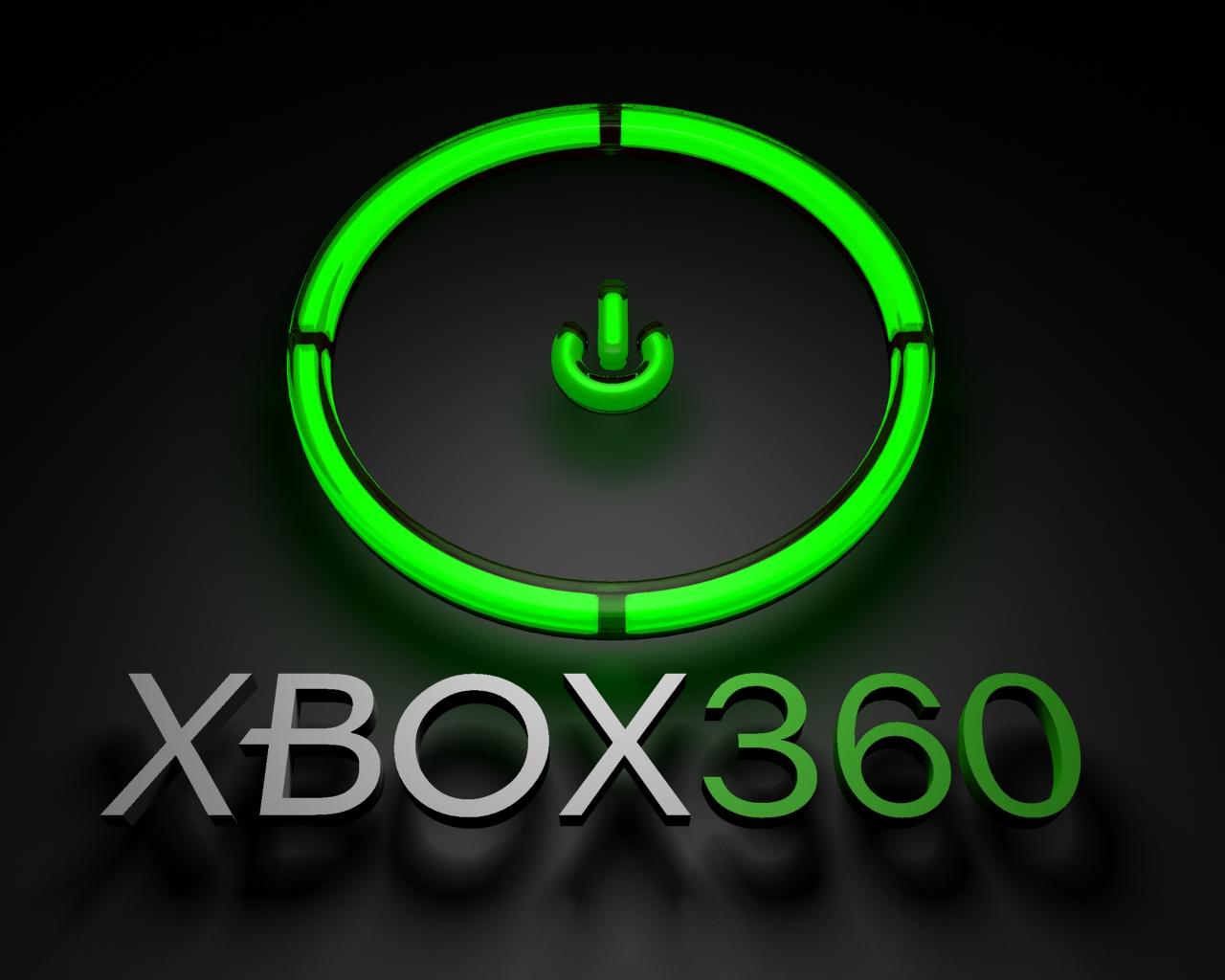 xbox 360 green ring power title wallpaper background desktop logo 1280x1024