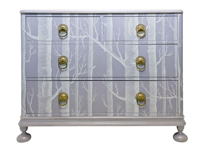 Dishfunctional Designs Upcycled Dressers Painted Wallpapered 688x500