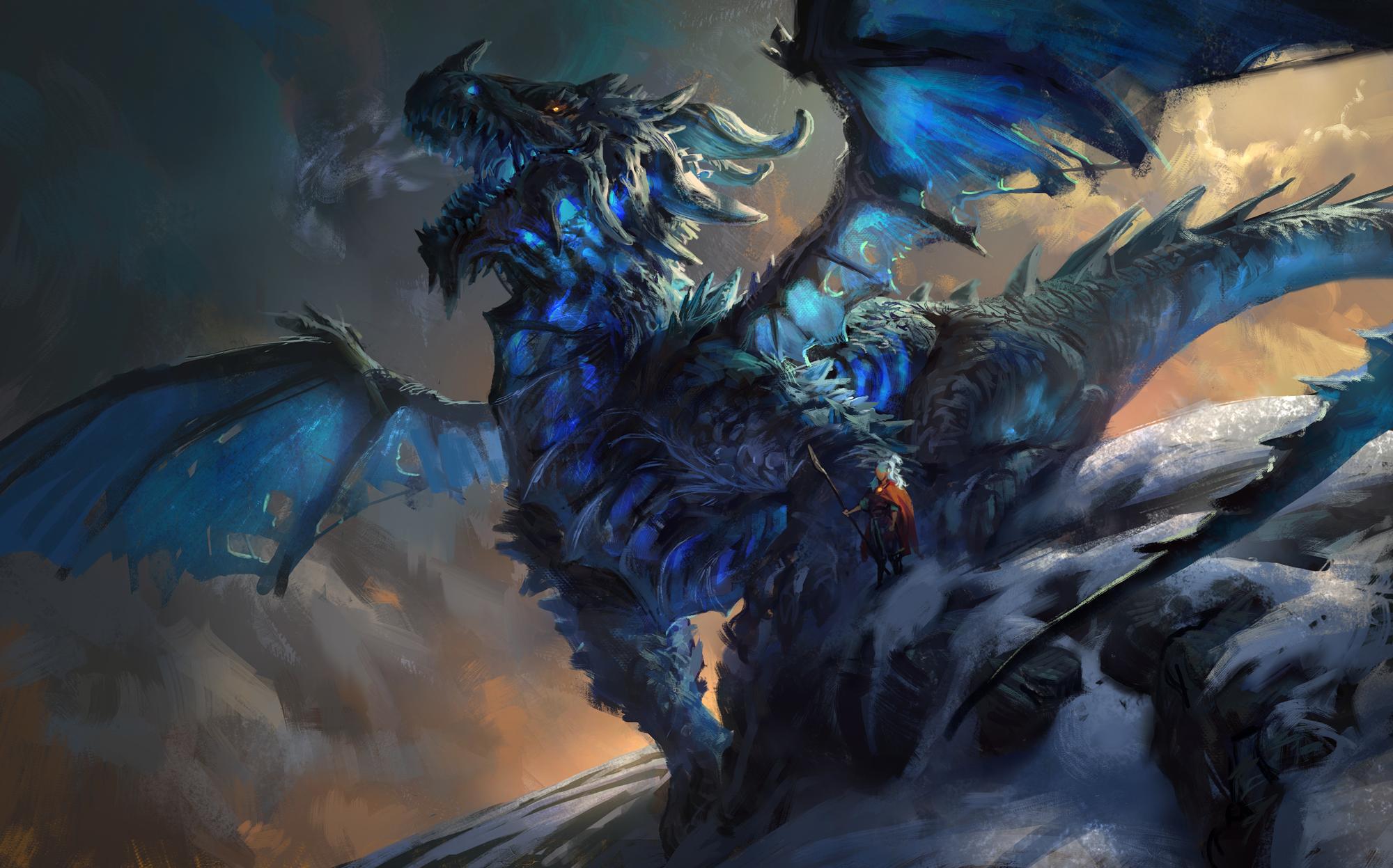 Astolfo the Ice Dragon by MikeAzevedo 2000x1247