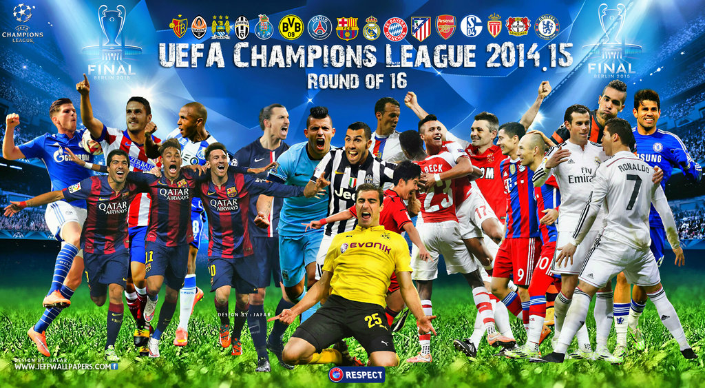 CHAMPIONS LEAGUE WALLPAPER 2015 ROUND OF 16 by jafarjeef on 1024x563
