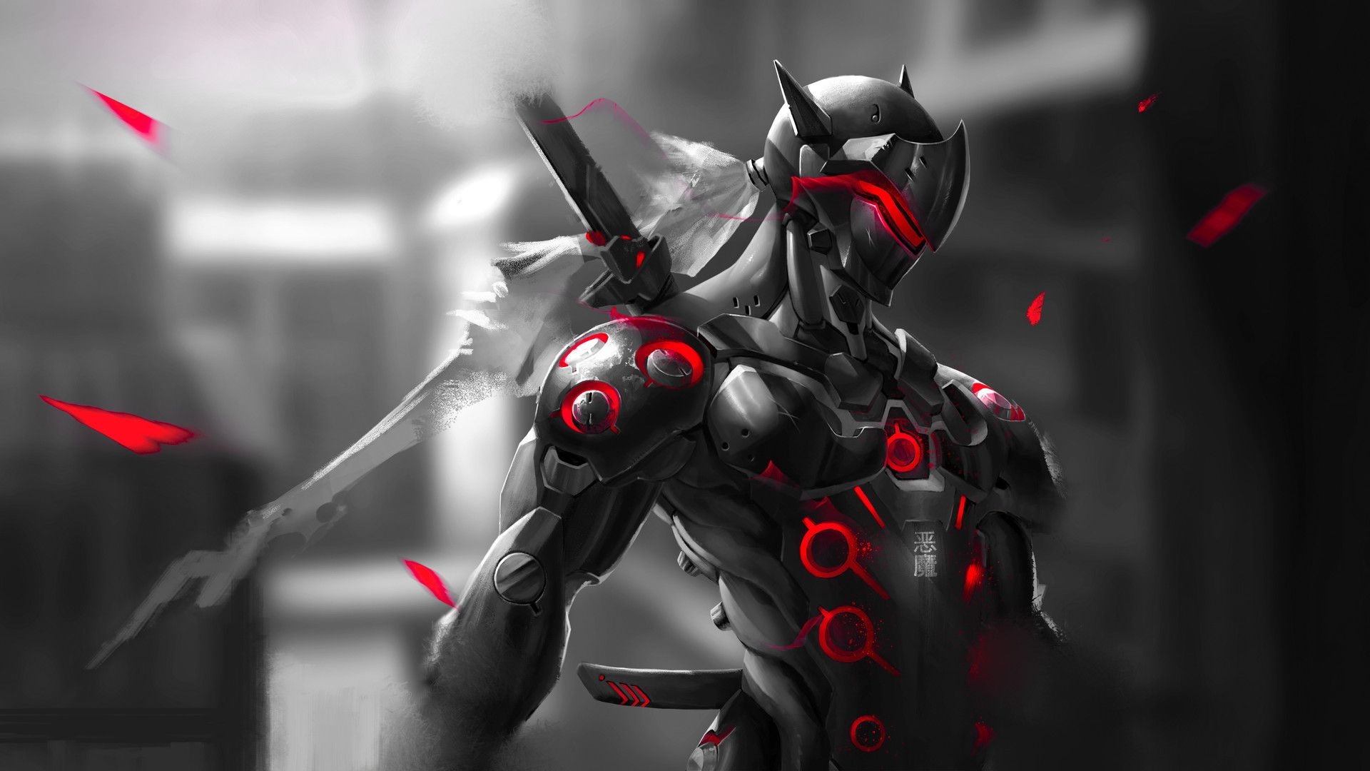 Red Genji Wallpaper 1080p Minionswallpaper Overwatch genji 1920x1080