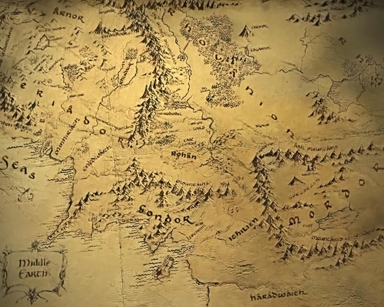 Maps Update 32002400 Large Middle Earth Map Map of Middle – Lord of the Rings Map of Middle Earth