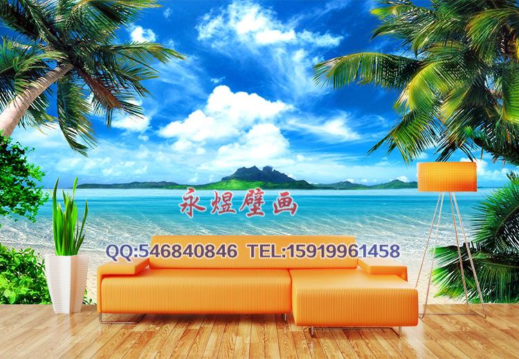 anyway custom wallpaper mural wallpaper manufacturers large 3D ocean 750x519