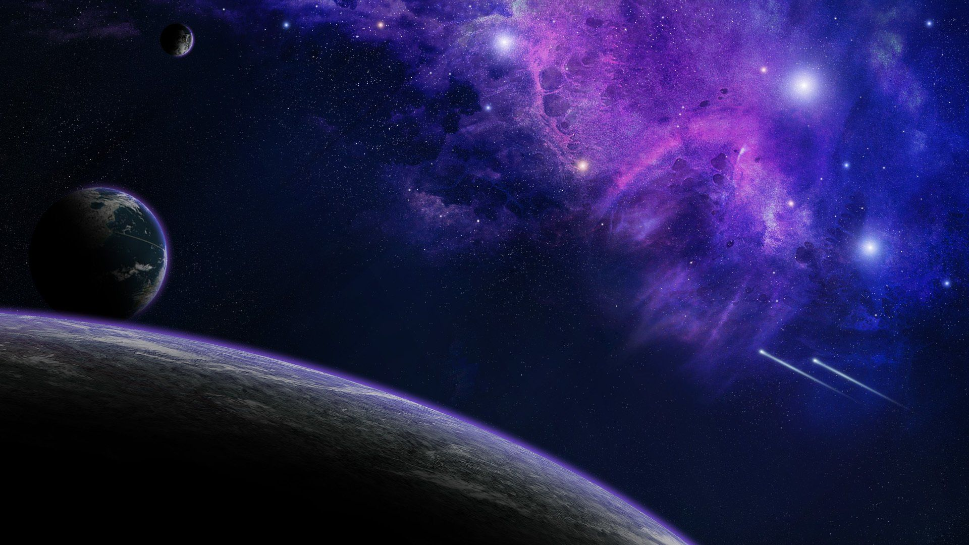 Space universe galaxy cosmos astronomy planet star colors colorful 1920x1080