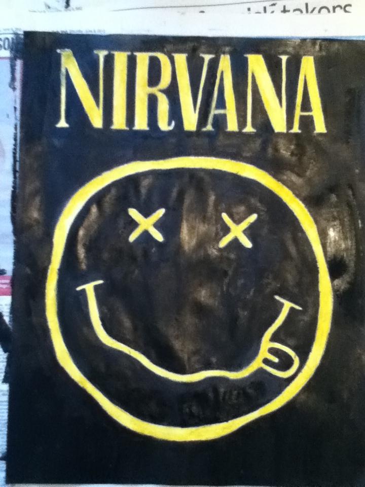 Nirvana Smiley Face Wallpaper Nirvana   smiley face painting 720x960