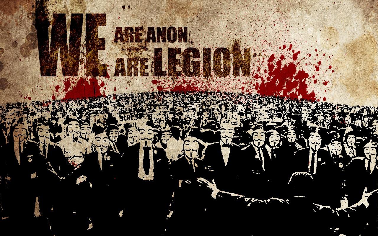Free Download Anonymous Legion Wallpaper 1280x800 Anonymous Legion