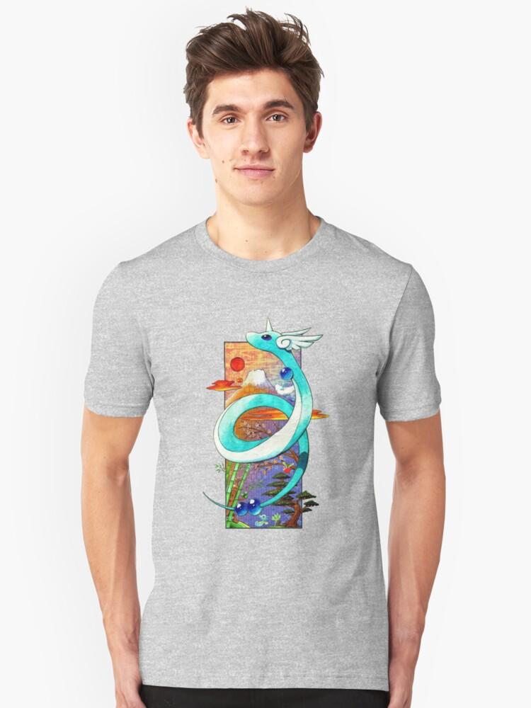 Pokemon Dragonair [Japanese Style Background] T shirt by 750x1000