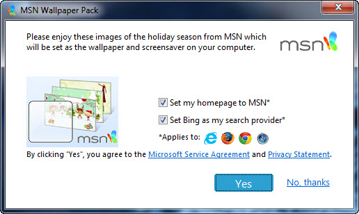 MSN Christmas 2012 Wallpaper and Screensaver Pack for Windows 516x308
