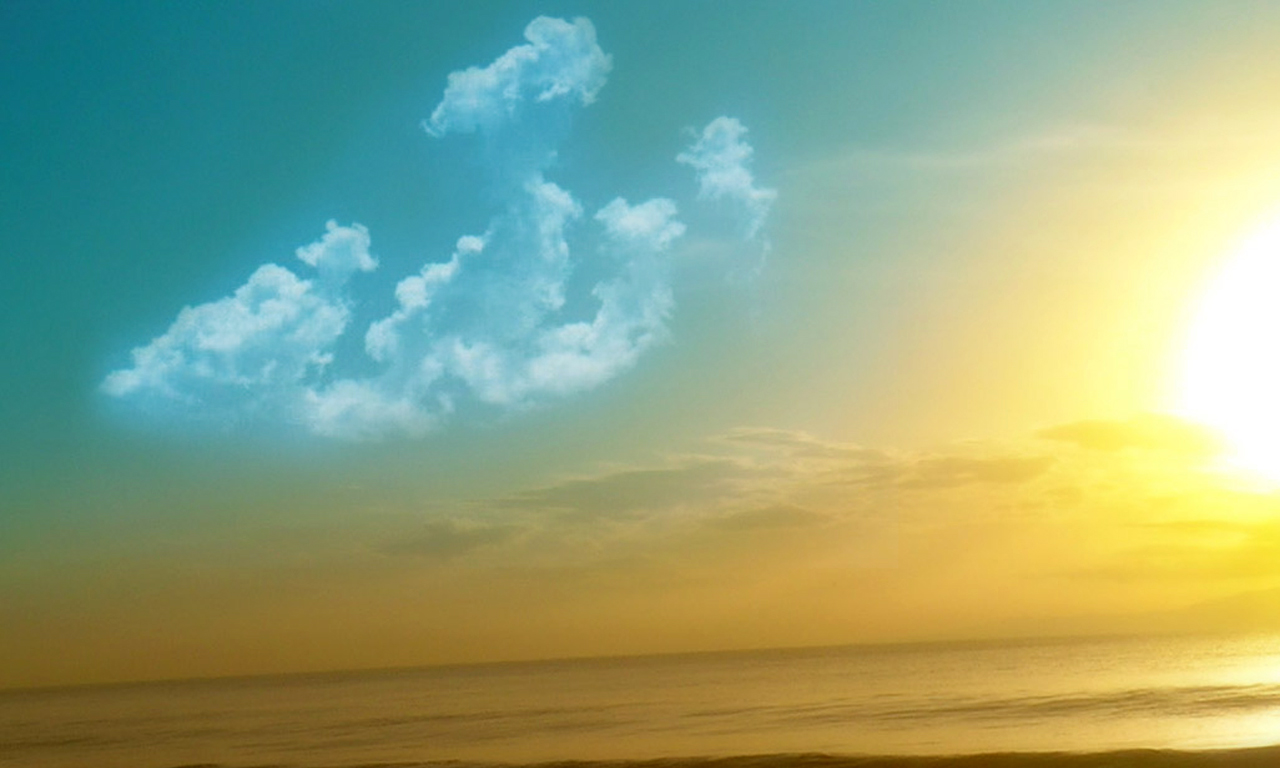 Allah On Sky Wallpaper Full HD Wallpaper with 1280x768 Resolution 1280x768
