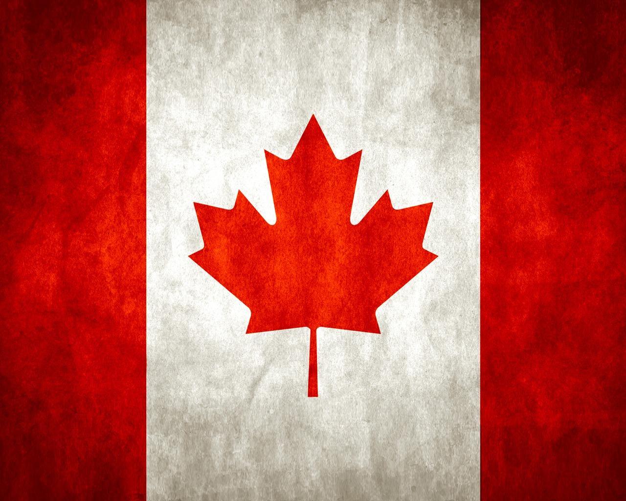 Download Canada wallpaper canada flag wallpaper 1280x1024