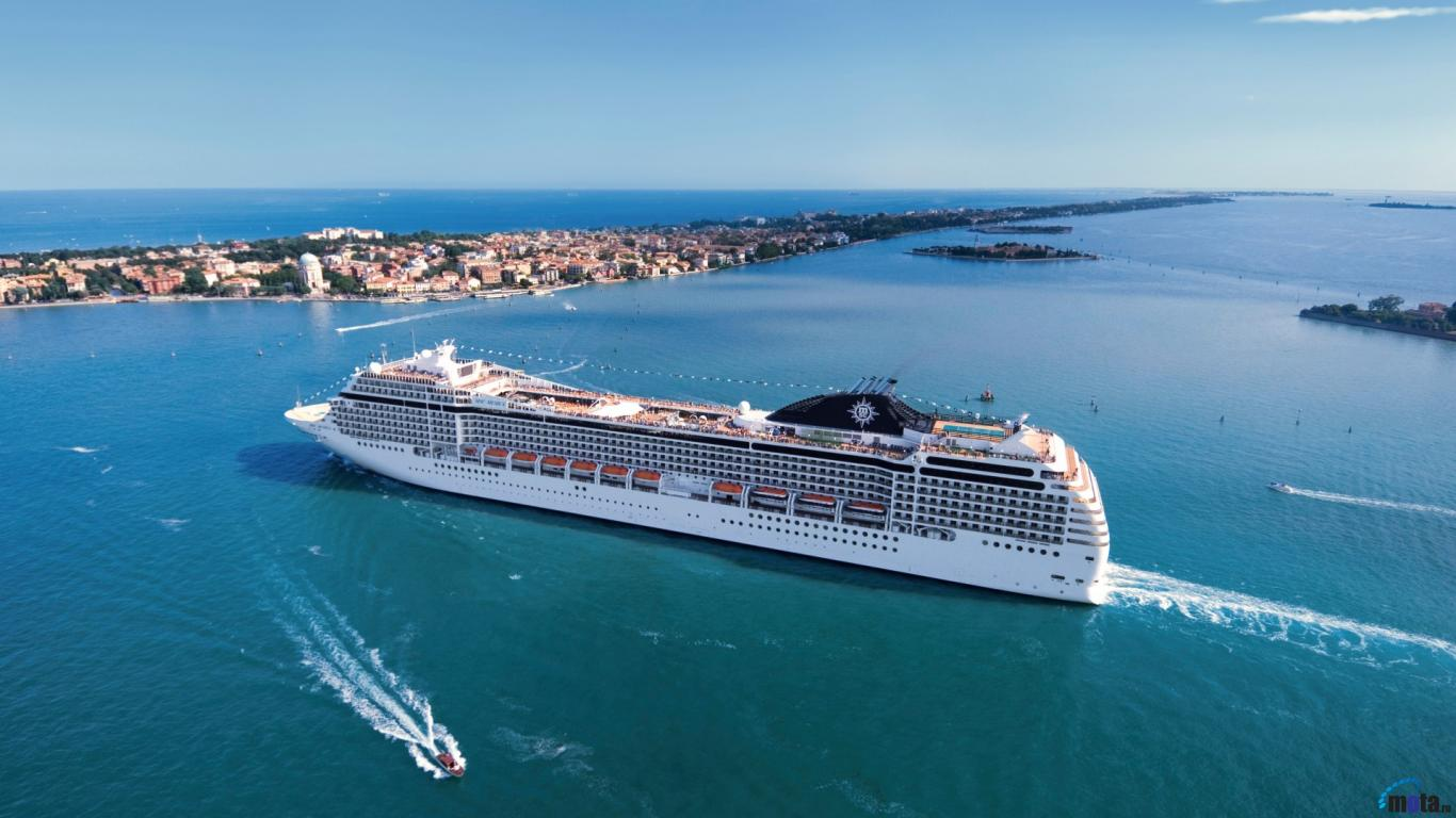 Wallpaper Cruise ship MSC Poesia 1366 x 768 Desktop wallpapers 1366x768