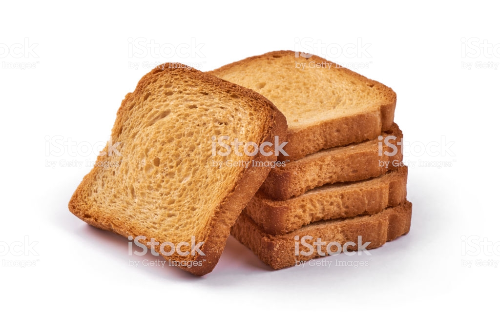 Roasted Toast Bread Isolated On White Background Stock Photo 1024x683