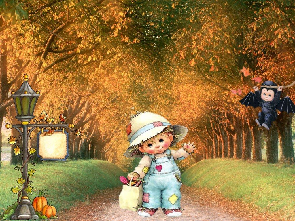 Cute autumn wallpaper 1024x768