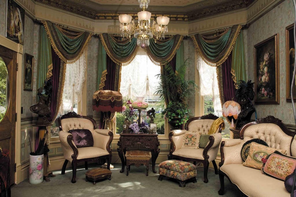 luxurious parlor In this fully restored Queen Anne the reproduction 1024x682