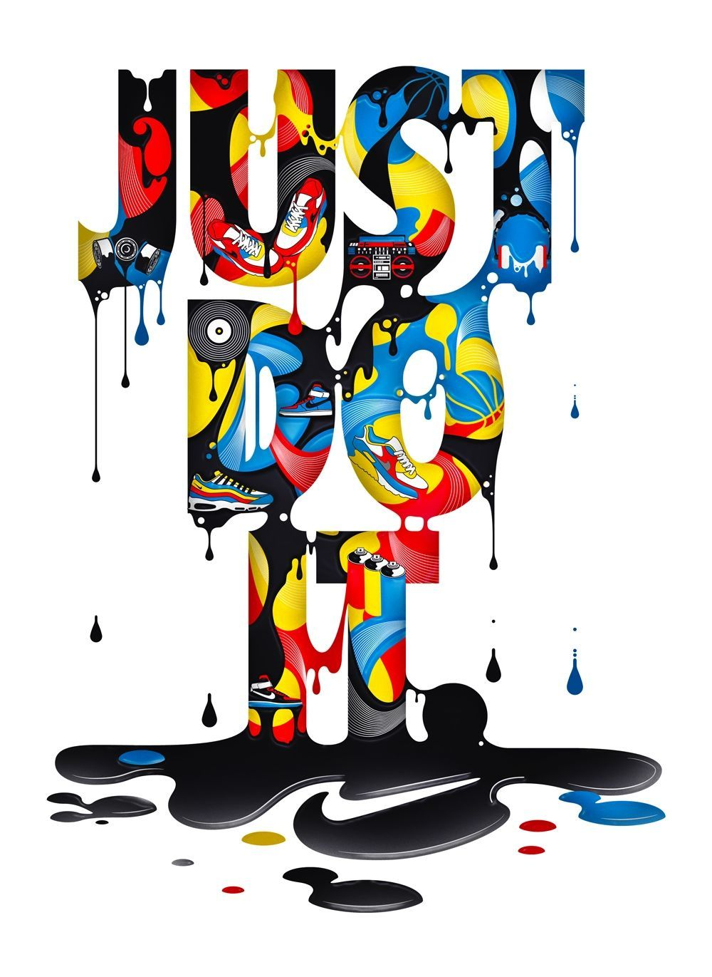 Steven Bonner Illustration Jelly Nike Logo in 2019 Just do 1000x1371
