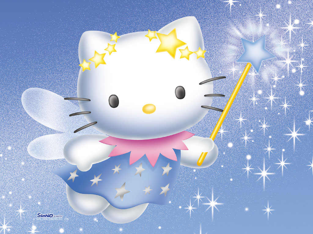 Labels HD wallpaper Hello Kitty 1024x768