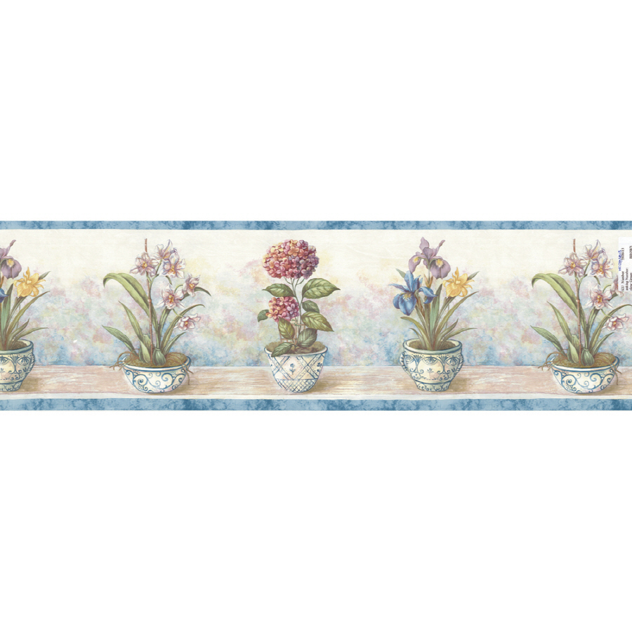 Shop Waverly 9 Potted Floral Prepasted Wallpaper Border at Lowescom 900x900