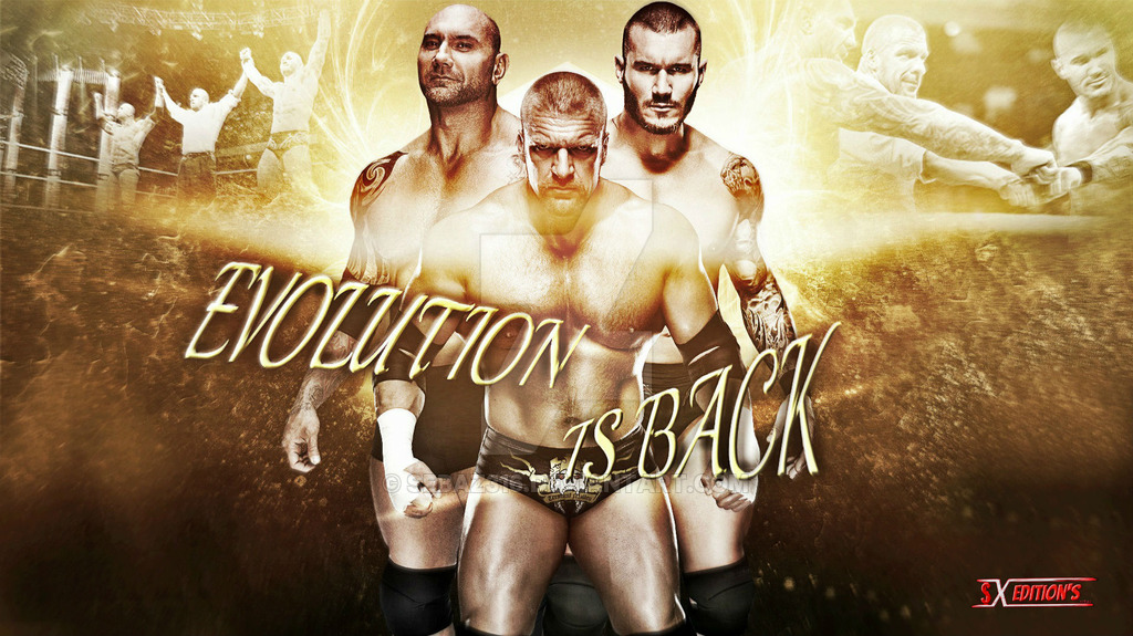 WWE Evolution is back wallpaper by sebaz316 1024x575