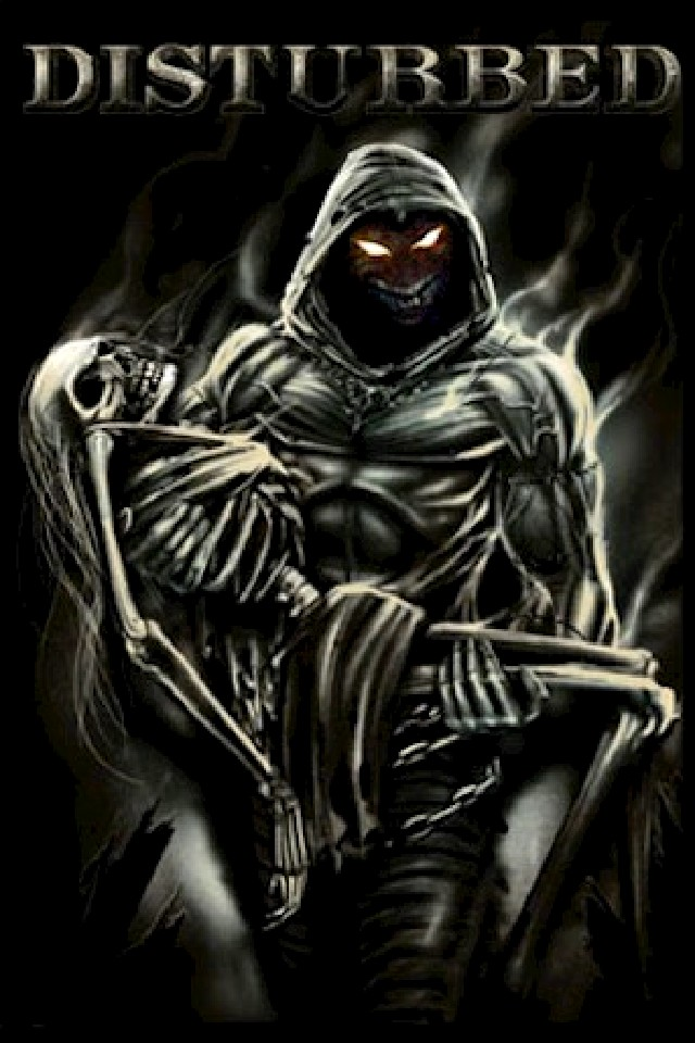 Disturbed music artists wallpaper for iPhone download 640x960