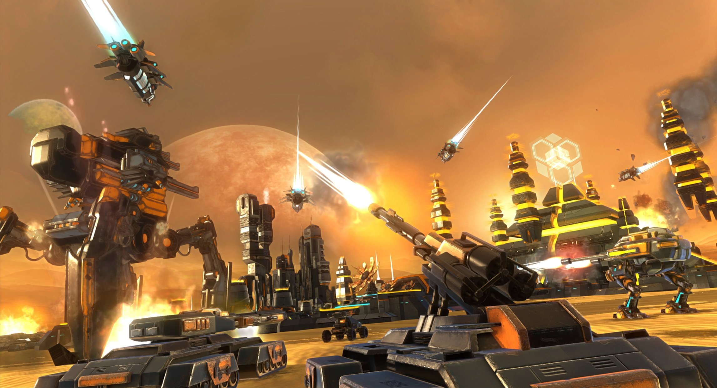 ETHERIUM futuristic strategy sci fi fighting action war battle 2294x1242