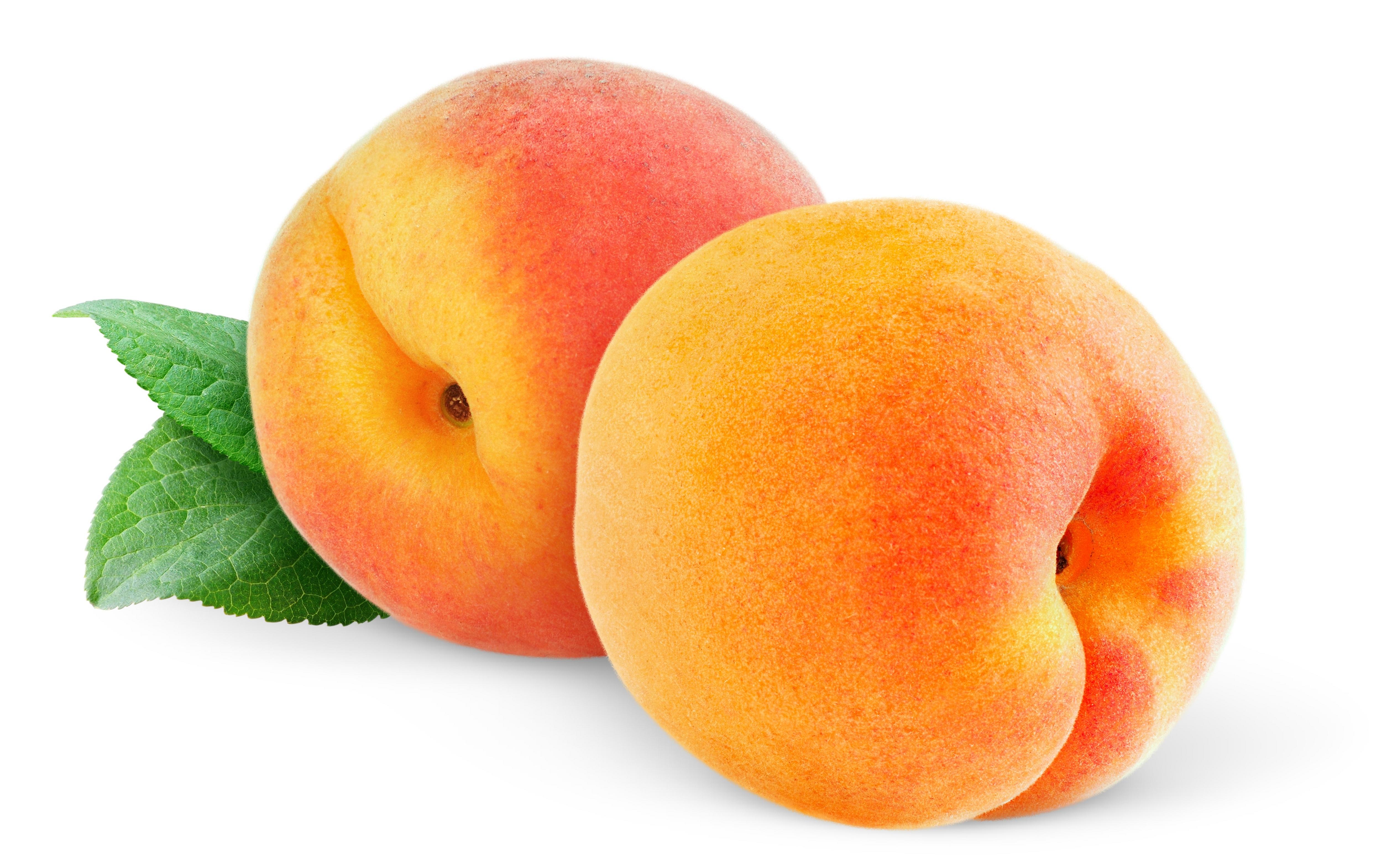 Peaches peaches vegetables fruit white background wallpaper 5065x3135