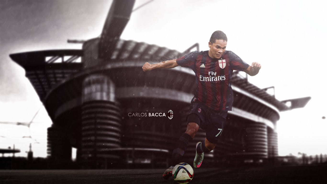 Carlos Bacca AC Milan 20152016 Wallpaper   Football Wallpapers HD 1366x768