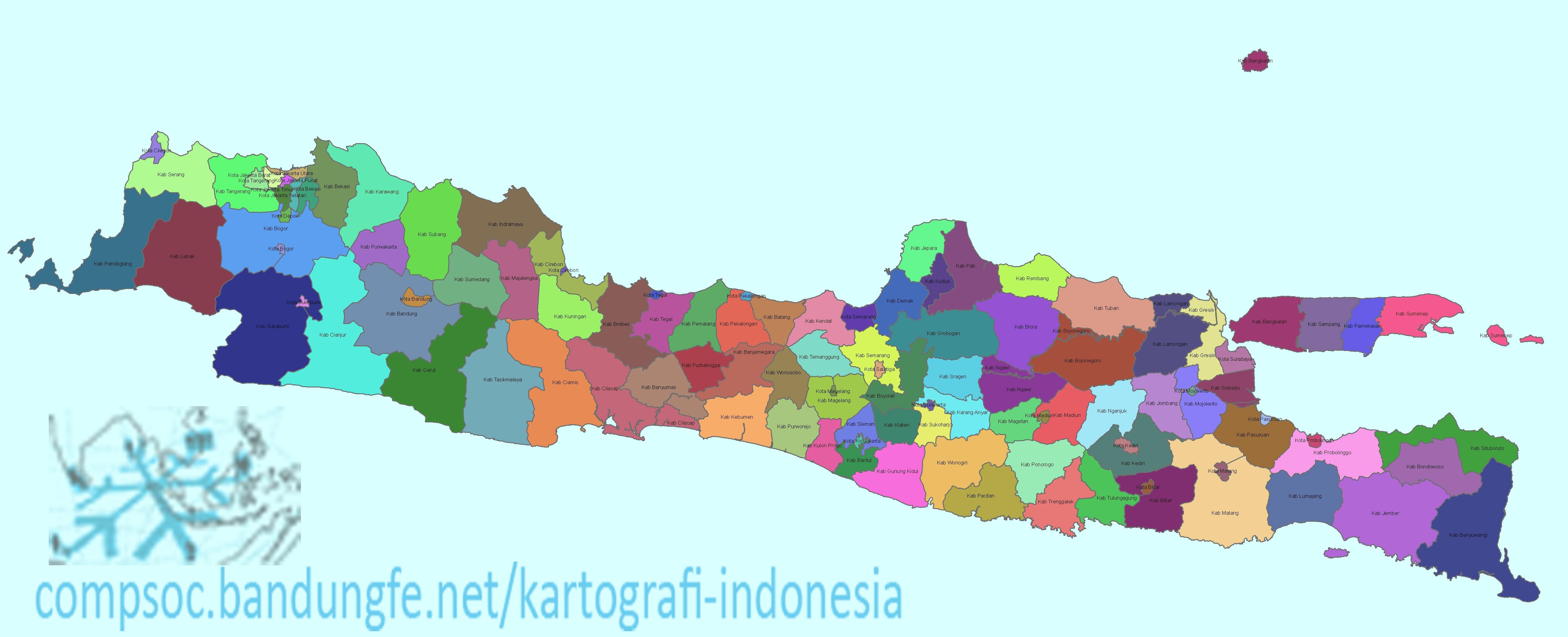 peta pulau jawa indonesia ...