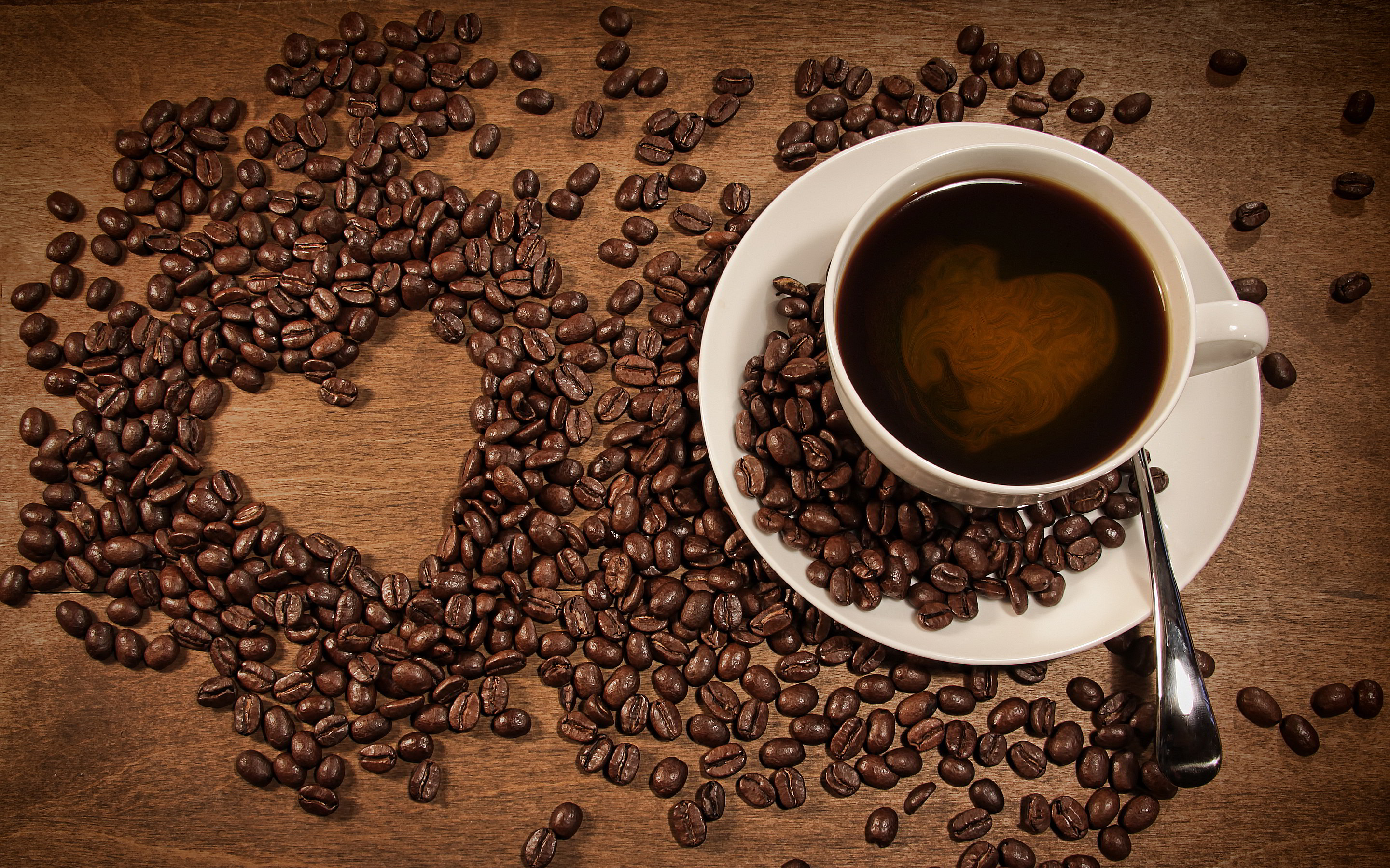 Download Heart Coffee Wallpaper HD pictures in high definition or .