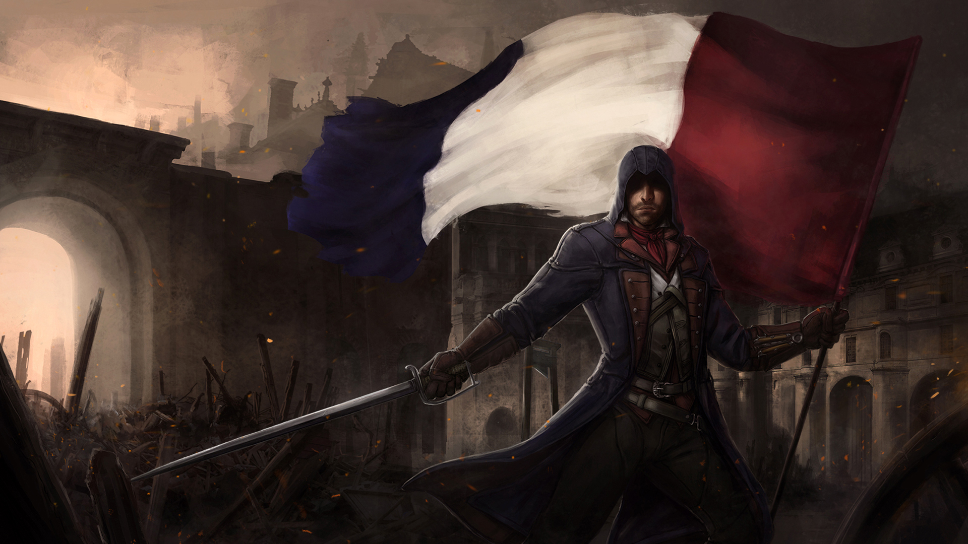 Free Download French Flag Revolution Assassins Creed Unity