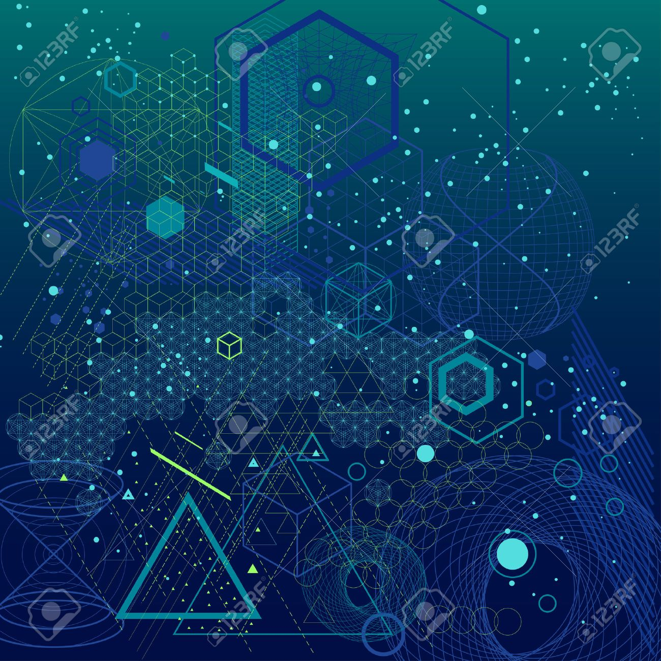 Sacred Geometry Symbols And Elements Background Cosmic Universe 1300x1300