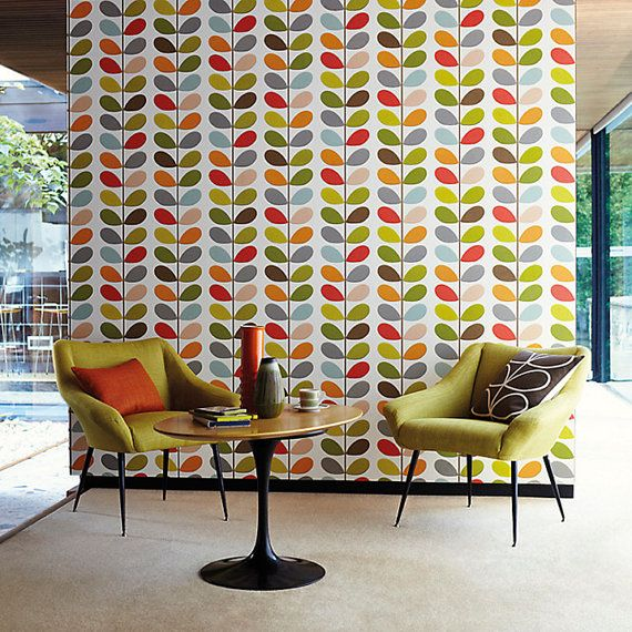 Self adhesive vinyl temporary removable wallpaper wall decal   Leaf 570x570