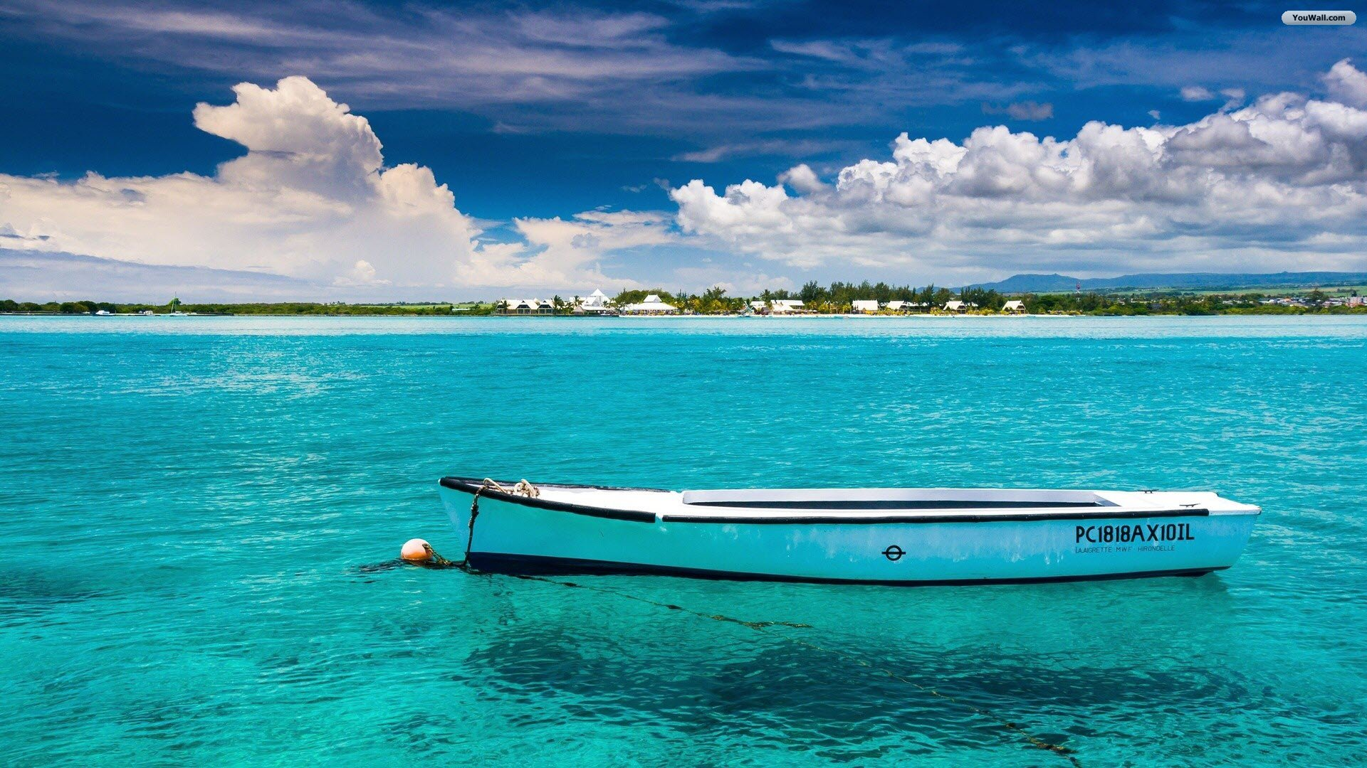 Free Download Youwall Lonely Boat Wallpaper