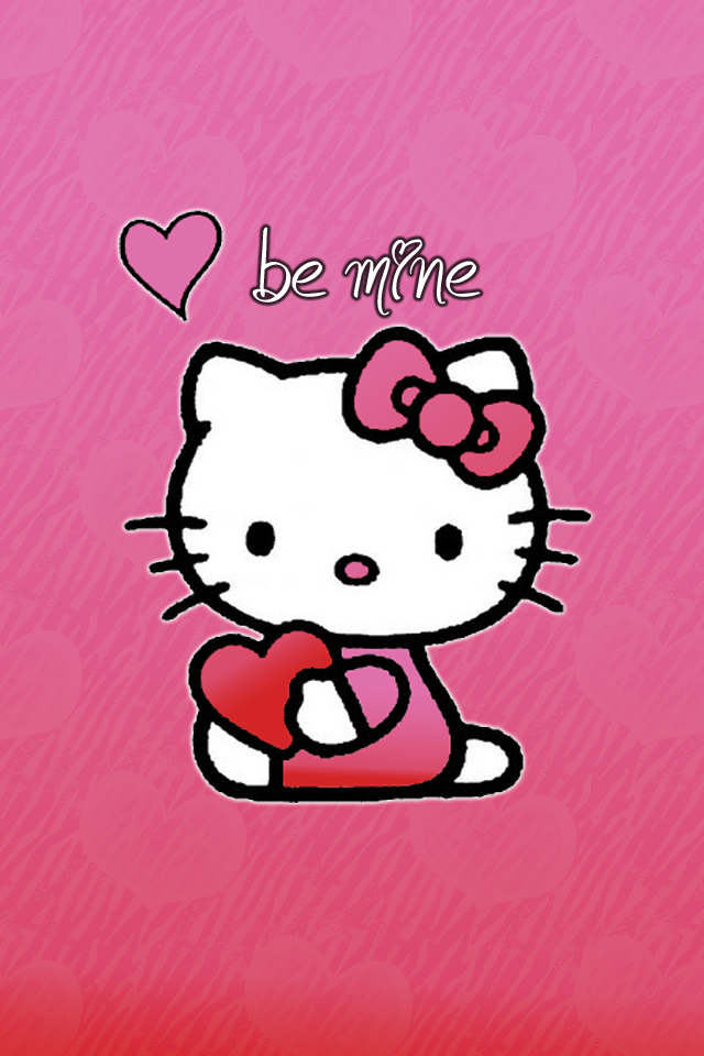 Hello Kitty Valentines Day Wallpapers JailbreakThemescom  Cute and 640x960