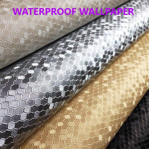 Solid Mosaic Waterproof Wallpaper for Bathroom Ceiling TV KTV Wall 500x500