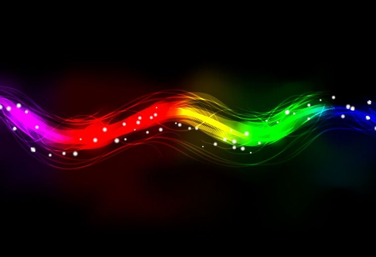 Abstract Neon Spectrum Light Effect Background Abstract Vector Art 760x520