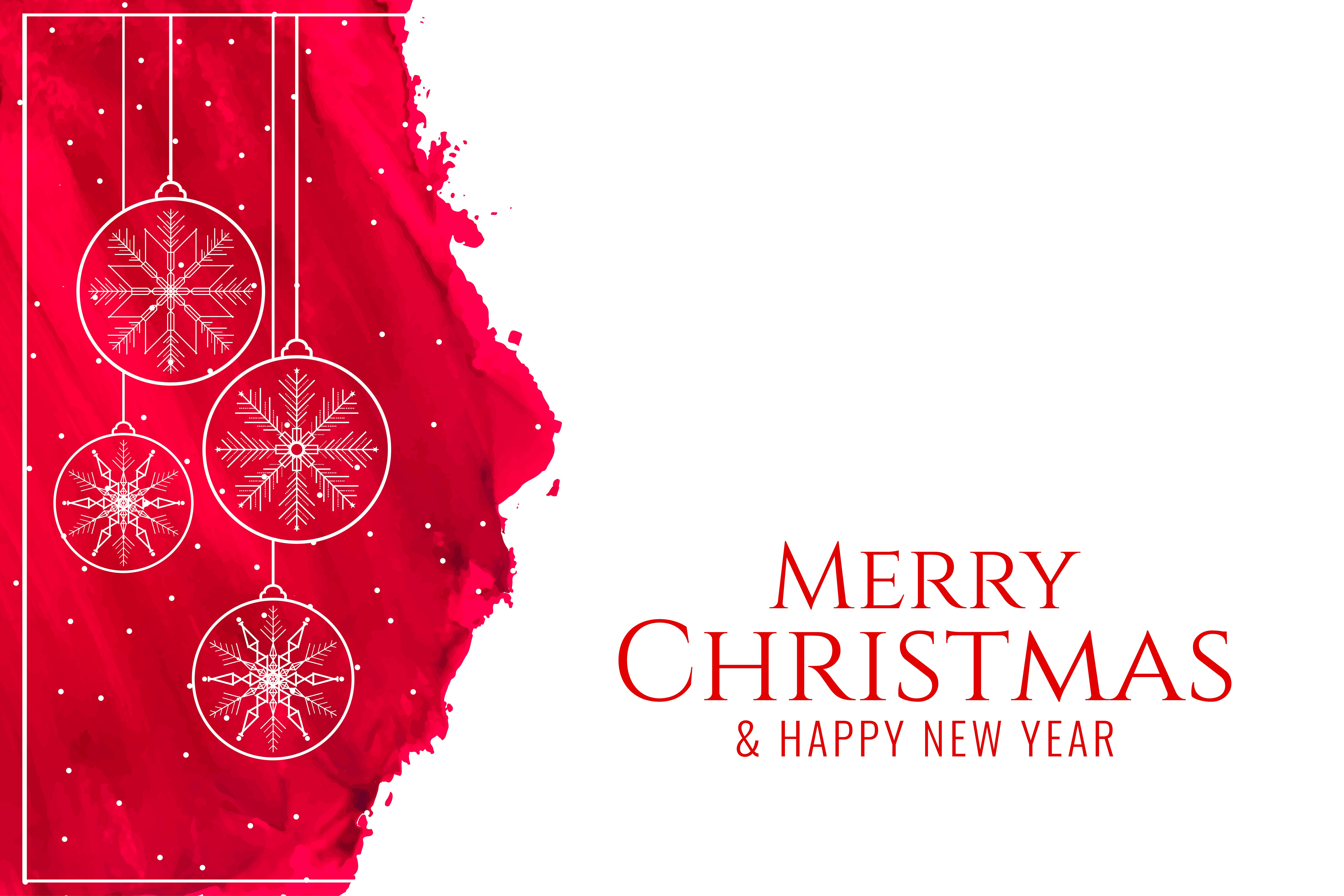 download Merry Christmas and Happy New Year 2020 4K wallpaper 6000x4000
