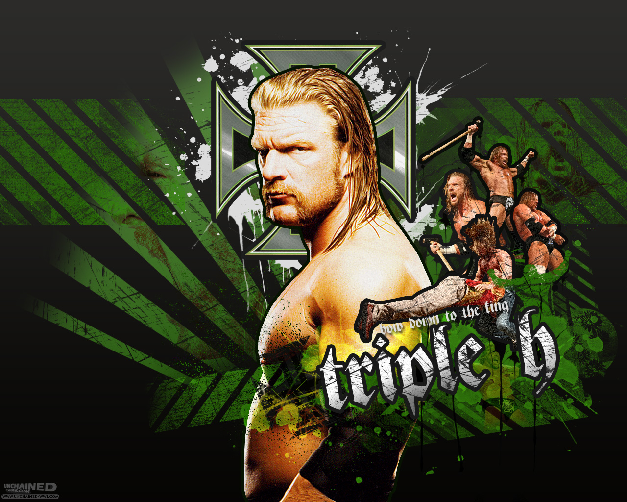 Pictures 4 stars Triple H Wallpaper 1280x1024