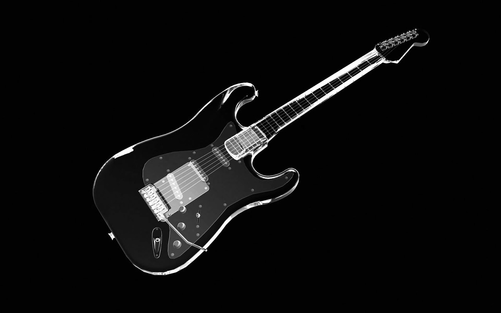 Black and White Wallpapers Black White Guitar   Black and 1600x1000
