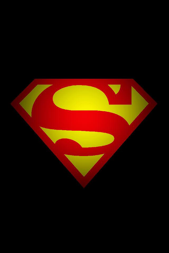 Superman Logo background by KalEl7 640x960