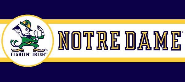 Notre Dame Fighting Irish 7 Tall Wallpaper Border 600x267