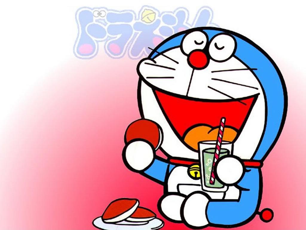 Free Doraemon Wallpaper Doraemon Eating Dorayaki