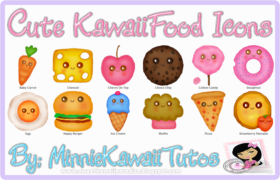 Cute cartoon food wallpapers wallpapersafari - Kawaii food wallpaper ...